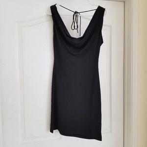 Victoria's Secret Dresses - Victoria's Secret Black Cowl Back Dress